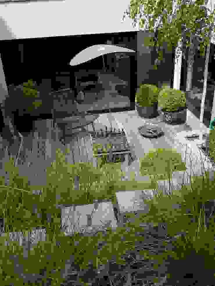 Jardin urbain par les fleurs du bien Moderne