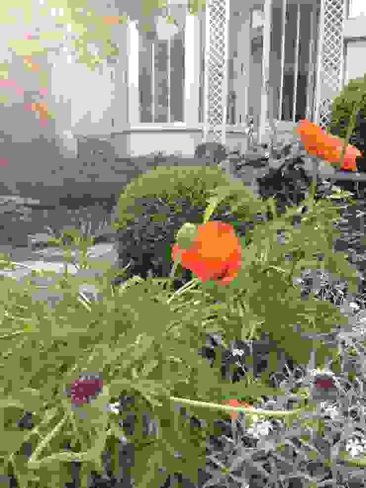 Jardin romantique par les fleurs du bien Éclectique