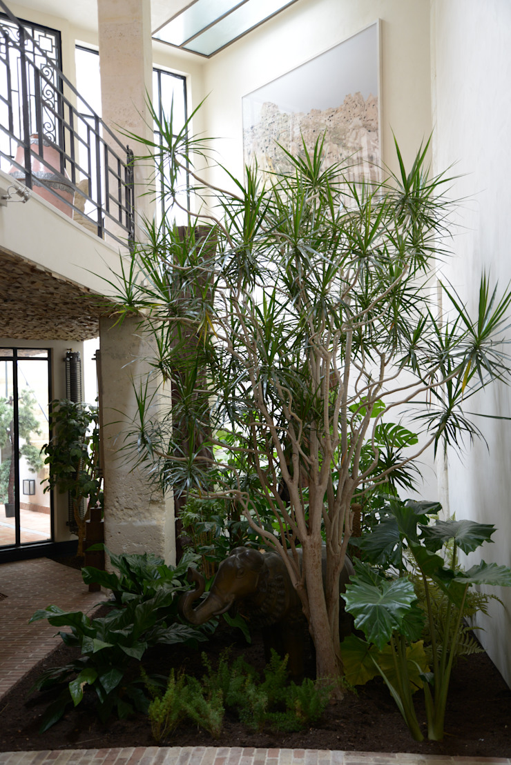 Loft Parisien Balcon, Veranda & Terrasse modernes par les fleurs du bien Moderne