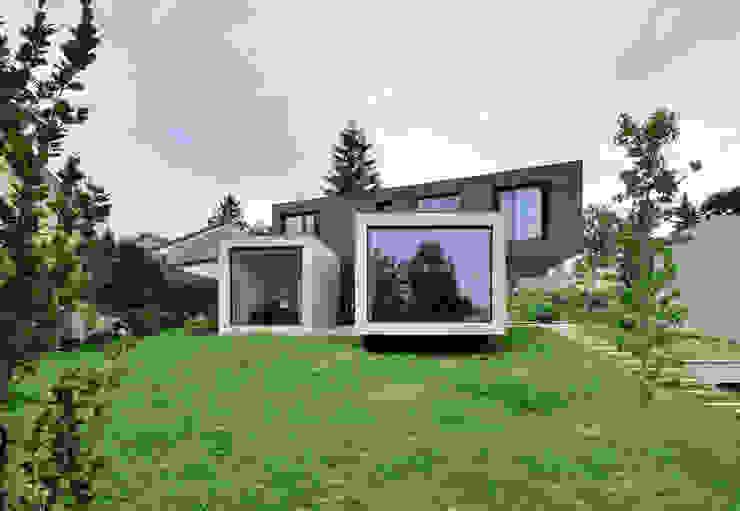 VUE FRONTALE Maisons minimalistes par js2 Minimaliste