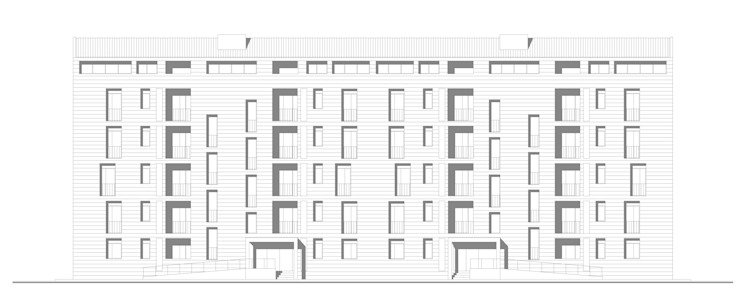 COMPLESSO RESIDENZIALE <q>POLINA</q> di Alberto Izzo & Partners Moderno
