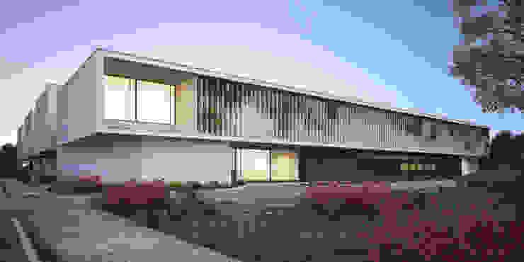 Arquitectura 3D de hospital en Chitré Berga&Gonzalez - arquitectura y render Hospitales de estilo moderno
