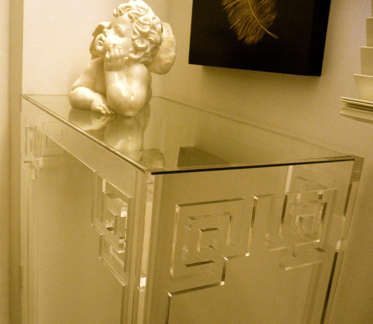 Oriental Bedroom Acrylic Table by A.Luxe & Co.