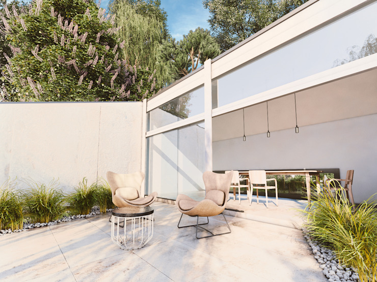 Exterior Scene Modern Kış Bahçesi WHITE ROOM DESIGN Modern