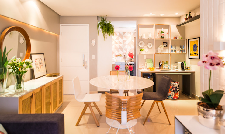 Ed. Colibri Salas de jantar modernas por Bloom Arquitetura e Design Moderno