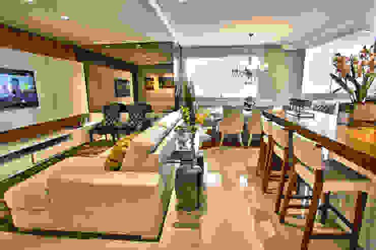 Espaços integrados Salas de estar modernas por AL11 ARQUITETURA Moderno