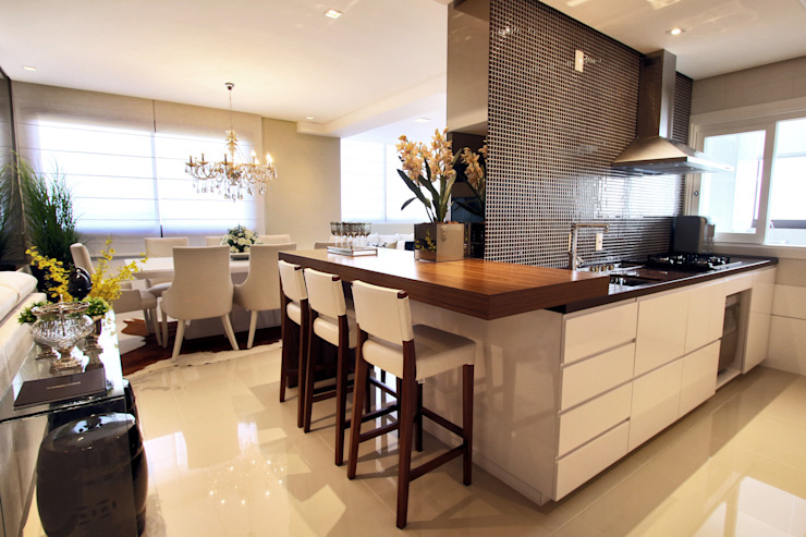 AL11 ARQUITETURA 現代廚房設計點子、靈感&圖片