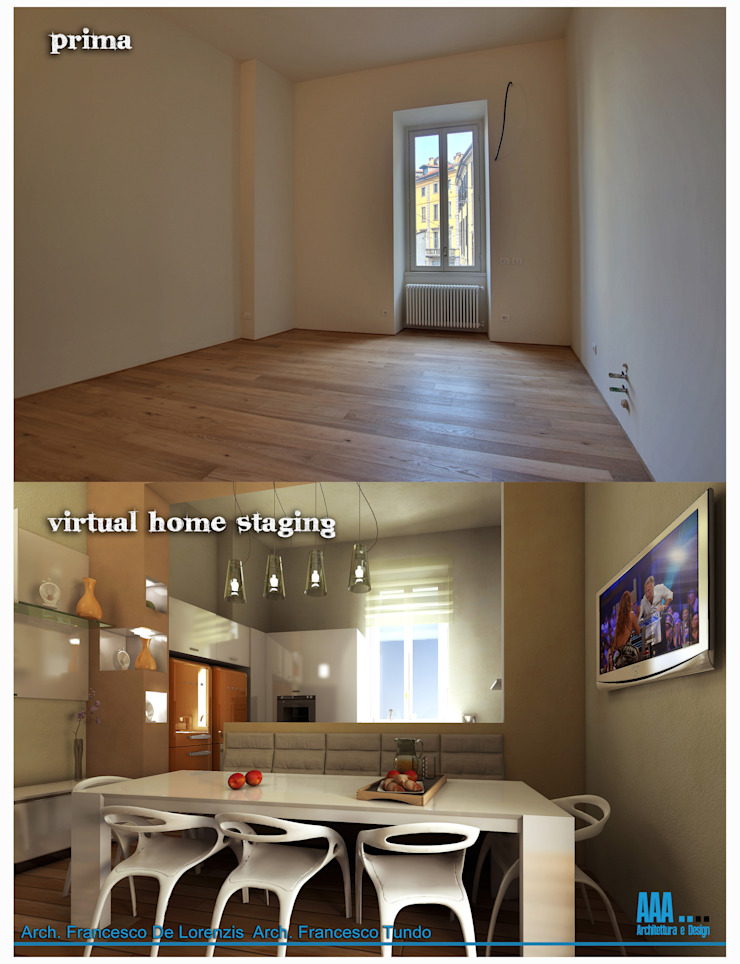 prima e dopo di Studio di Architettura Tundo Moderno