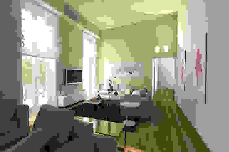 Virtual Home Staging Soggiorno Soggiorno moderno di Studio di Architettura Tundo Moderno