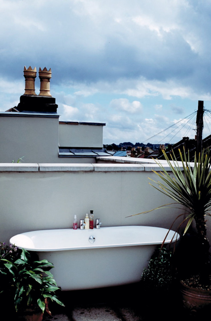 Hillside Houses, Montpelier Modern balcony, veranda & terrace by Emmett Russell Architects Modern