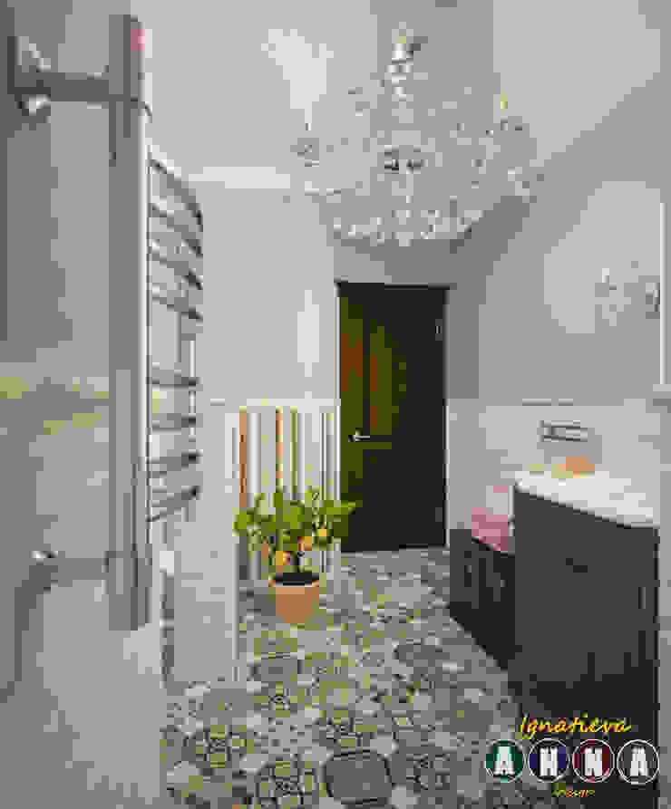 А НА НЕБЕ ТОЛЬКО И РАЗГОВОРОВ, ЧТО О МОРЕ… Ванная в средиземноморском стиле от Дизайн-студия Анны Игнатьевой Средиземноморский