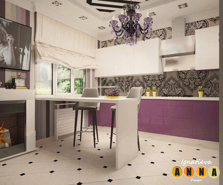 Загородный шик Гостиная в стиле модерн от Дизайн-студия Анны Игнатьевой Модерн