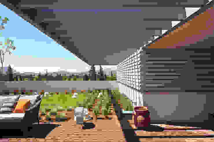 Balcones y terrazas de estilo moderno de ARQUITECTURA EN PROCESO Moderno