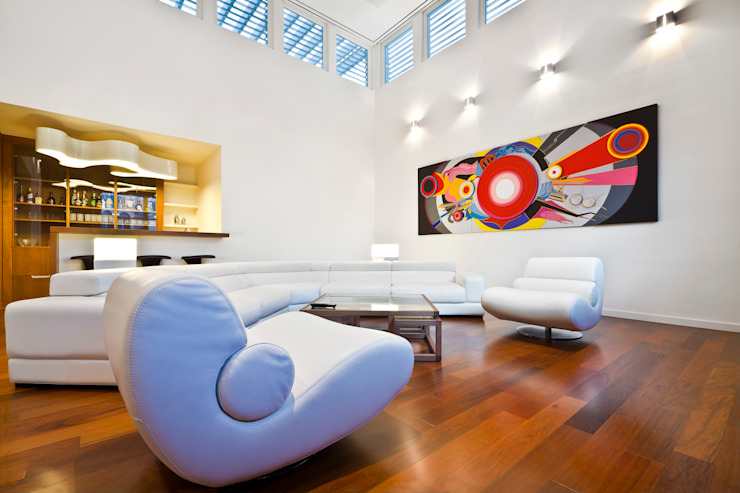 Salones de estilo minimalista de ARQUITECTURA EN PROCESO Minimalista