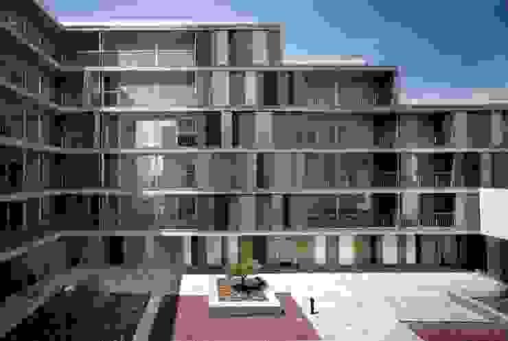 Fachada sur Casas de gabriel verd arquitectos