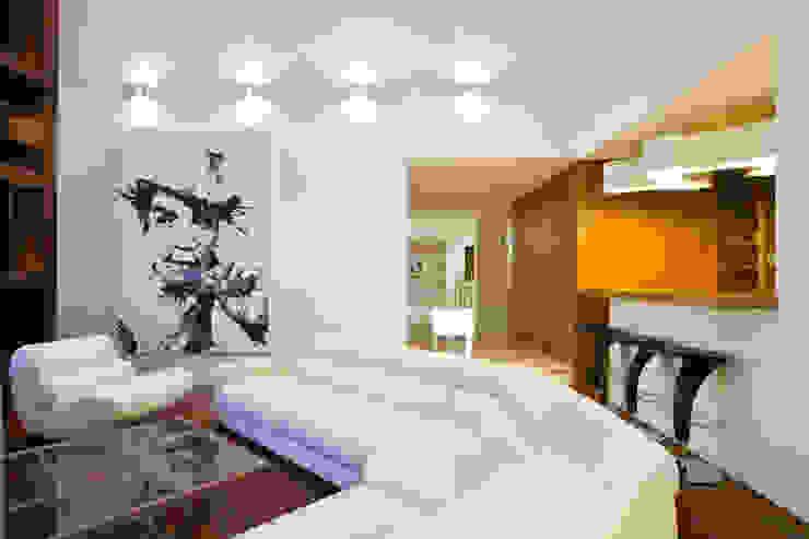 RESIDENCIA R: Salas de estilo  por ARQUITECTURA EN PROCESO, Minimalista