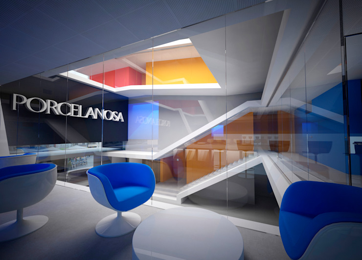 INSIDE PROMENADE Espacios comerciales de estilo moderno de Víctor Lusquiños. Arquitecto Moderno