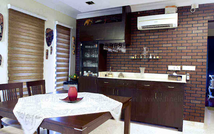 Interior Works: asian  by Fine Living Interior Designing and Furnishing Pvt Ltd,Asian