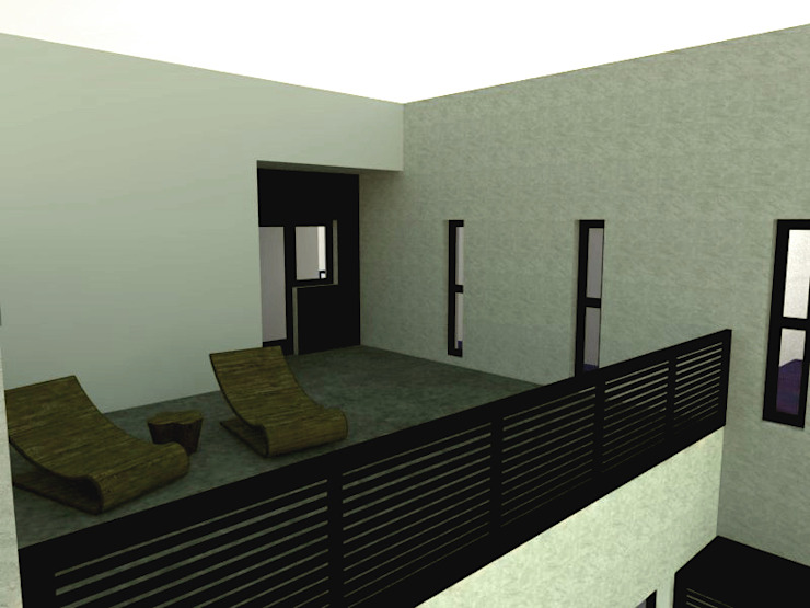 Vivienda unifamiliar aterrazada Casas de estilo moderno de Ear arquitectura Moderno