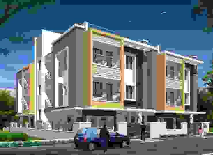 Casas modernas de Fine Living Constructions Pvt Ltd Moderno