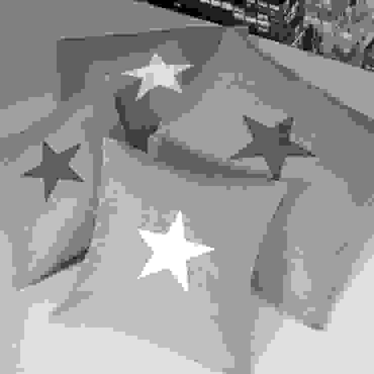 Coussins étoile en lin naturel par Gris Pastel