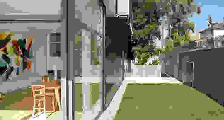 jardín privado Jardines de estilo minimalista de hollegha arquitectos Minimalista