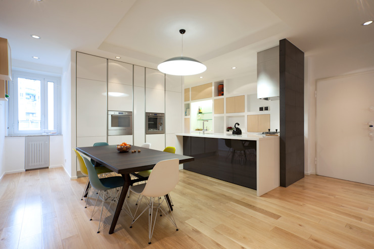 Apartment in Milan - OX22 Ruang Makan Modern Oleh Wisp Architects Modern
