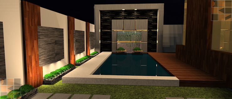 House for 3 brothers Rustic style houses by D-SiGN KSTUDIO™ PVT LTD ARCHITECTS + INTERIORS + LANDSCAPING Rustic