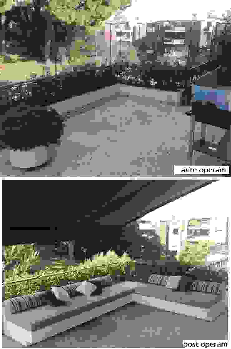 ante e post operam area relax Balcone, Veranda & Terrazza in stile moderno di Fabio Valente Studio di architettura e urbanistica Moderno