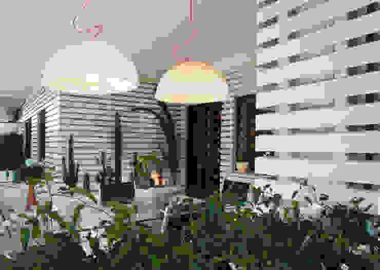 vista generale 2 Balcone, Veranda & Terrazza in stile moderno di Fabio Valente Studio di architettura e urbanistica Moderno