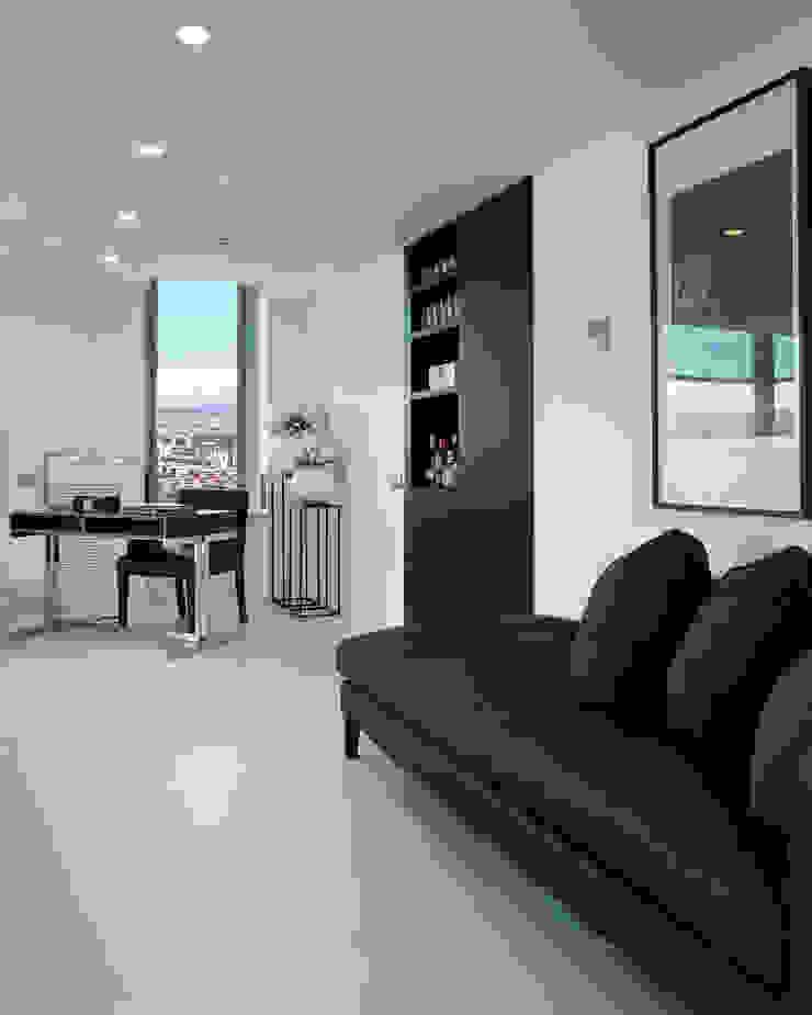 El mar en casa Estudios y despachos de estilo mediterráneo de Molins Design Mediterráneo