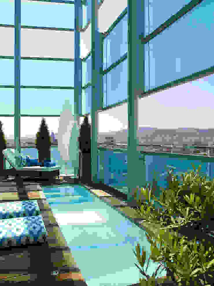 El mar en casa Piscinas de estilo mediterráneo de Molins Design Mediterráneo