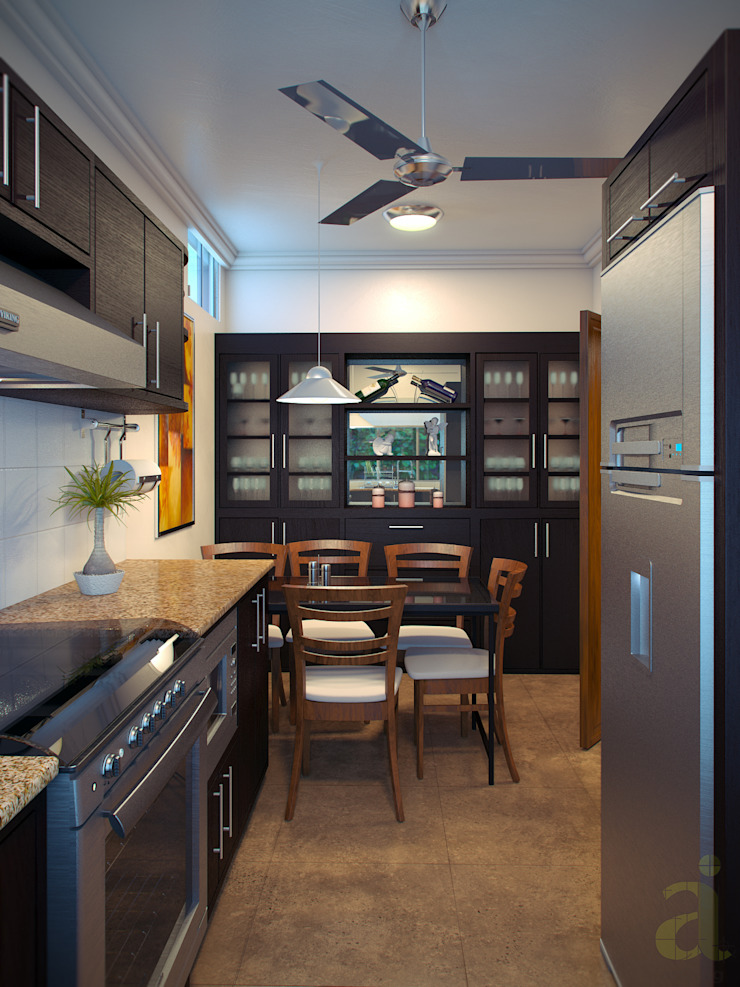Modern kitchen by arQing Modern