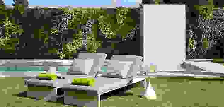 Piscina y zona relax Jardines de Molins Design
