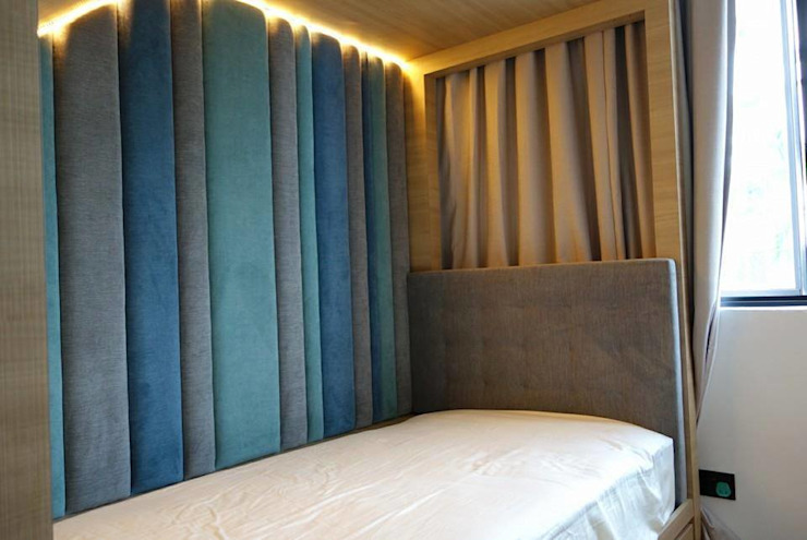 Single bed Headboard and Side Boards: modern  by Window Essentials,Modern