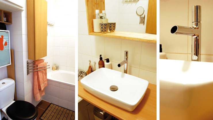 Appartement Bohème Salle de bain originale par Harfang Decoration Éclectique