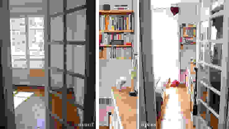 Appartement Bohème Couloir, entrée, escaliers originaux par Harfang Decoration Éclectique