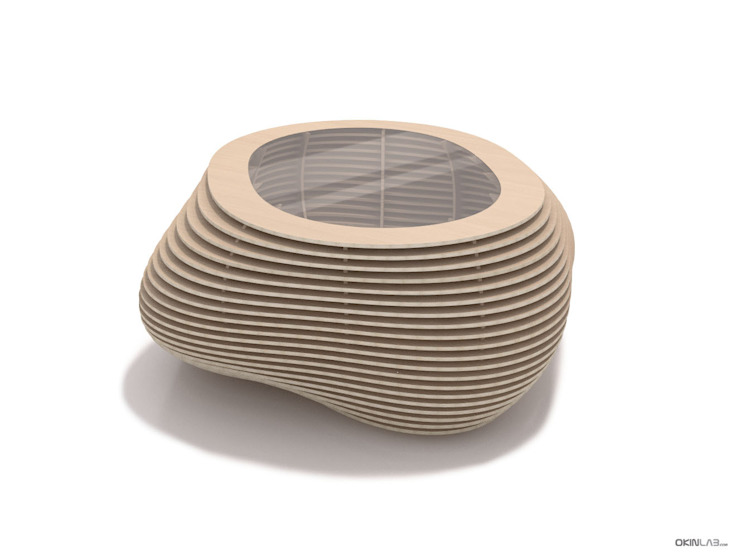 """Couchtisch """"Formitable"""" Eiche Skizze Konzept: modern  von form.bar,Modern Holzwerkstoff Transparent"""