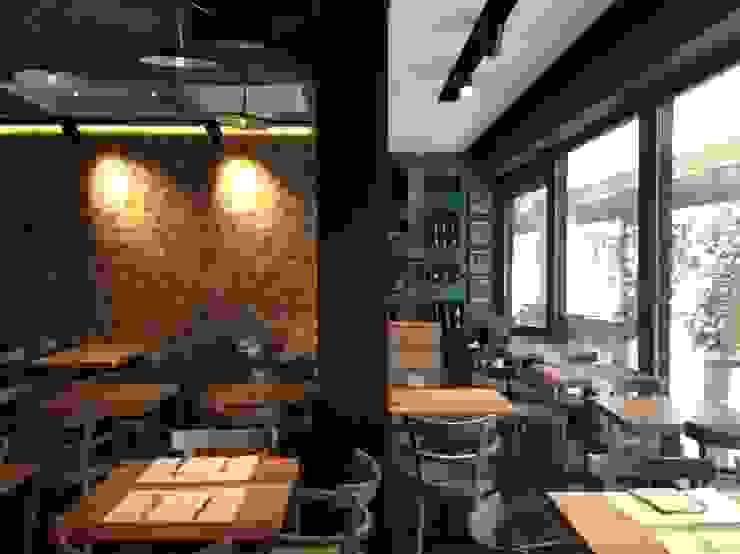 Le Torri, ristorante – pizzeria – caffetteria Spazi commerciali in stile industrial di Rossi Architettura Industrial