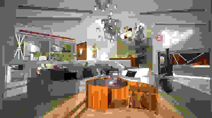 Villa Joà_Living di Emanuele Pillon Architetto Moderno
