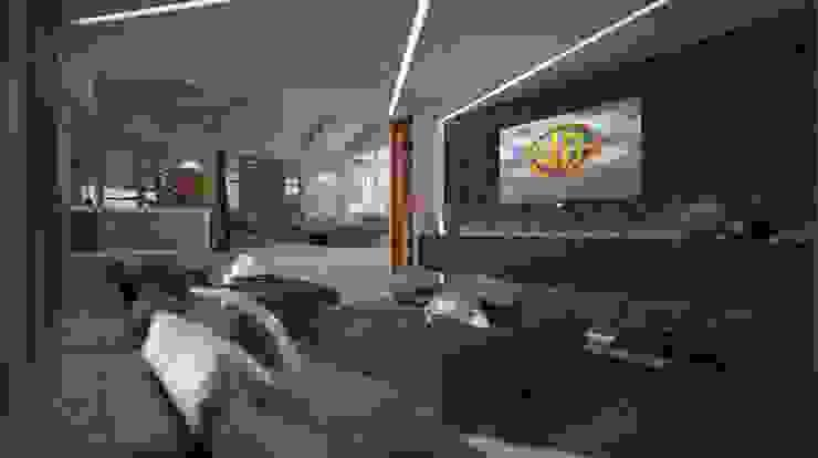 Villa Joà_Cinema room di Emanuele Pillon Architetto Moderno