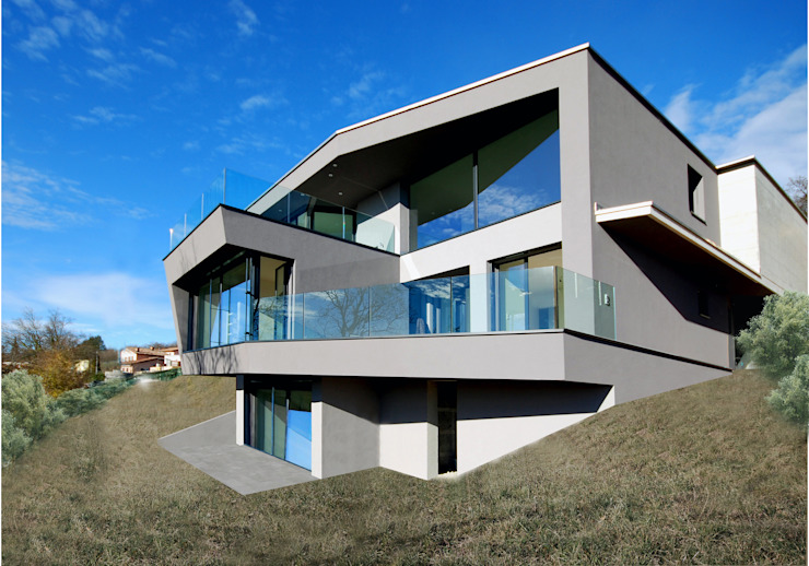 PAS Casa a gradoni Case di Studio d'architettura Casali Sagl
