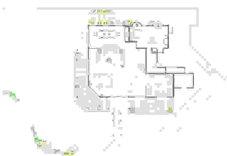 Villa Joà_Planimetria piano primo di Emanuele Pillon Architetto Moderno