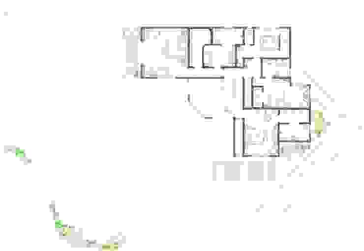 Villa Joà_Planimetria piano mezzanino e secondo di Emanuele Pillon Architetto Moderno