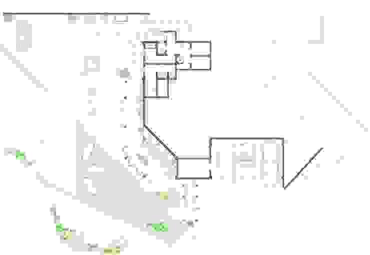 Villa Joà_Planimetria piano terra e giardino di Emanuele Pillon Architetto Moderno