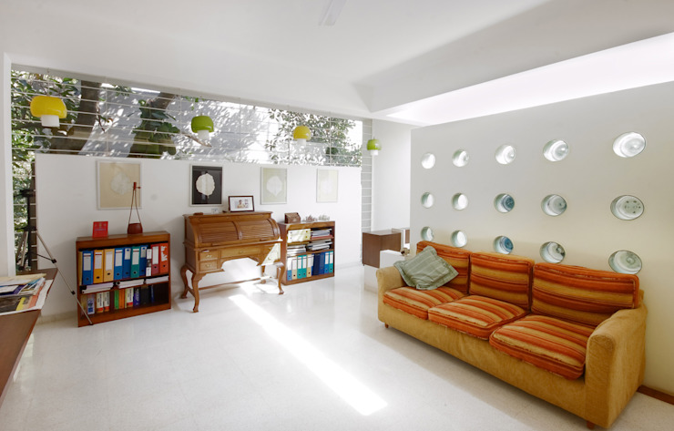the study: modern  by Gaurav Roy Choudhury Architects,Modern