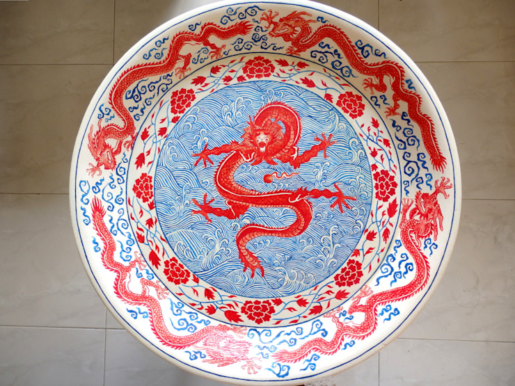Dragon dish table by Art From Junk Pte Ltd