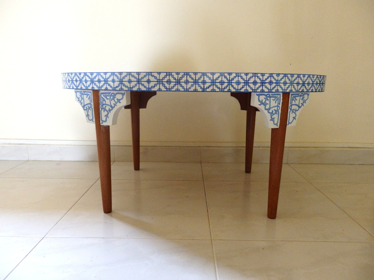 Porcelain coffee table by Art From Junk Pte Ltd