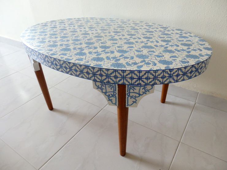 Porcelain coffee table:   by Art From Junk Pte Ltd,