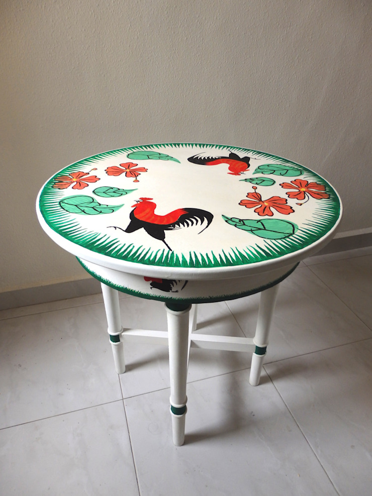 Lampang rooster table by Art From Junk Pte Ltd